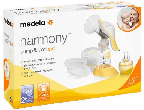 MEDELA Двуфазна ръчна помпа за кърма Harmony + комплект за кърмене с шише -  антиколик система 0052074